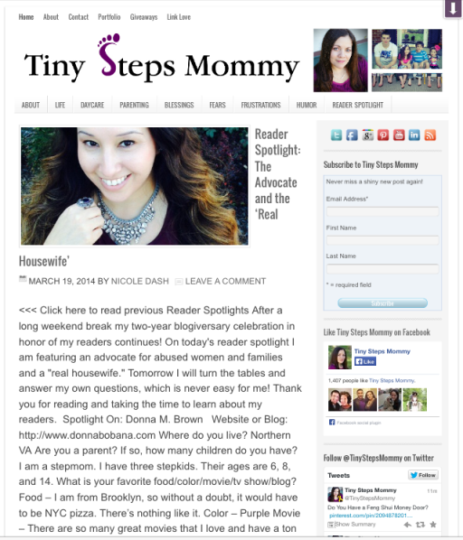 Press Tiny Steps Mommy